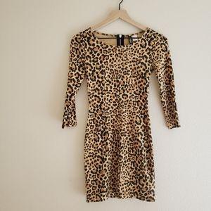 Divided By H&M Cheetah Print Bodycon Dress
